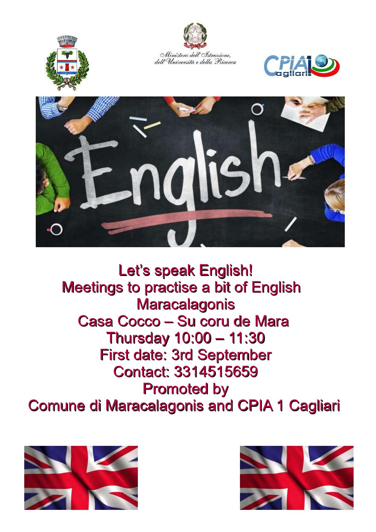 INCONTRI PER CONVERSAZIONE IN LINGUA INGLESE