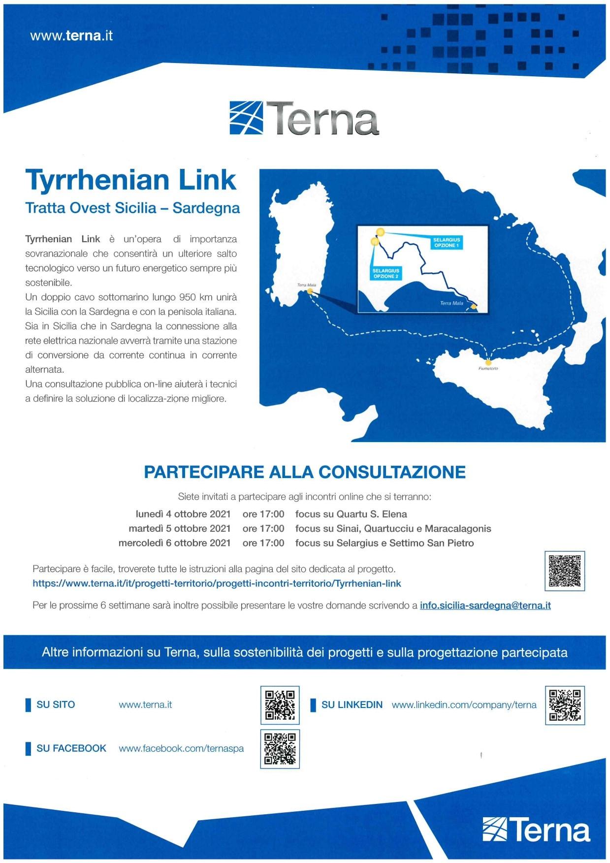 TYRRHENIAN LINK: IL DOPPIO COLLEGAMENTO SOTTOMARINO TRA SICILIA, SARDEGNA E PENISOLA