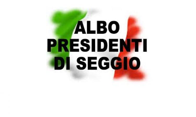 AGGIORNAMENTO ALBO PRESIDENTI DI SEGGIO-ANNO 2022
