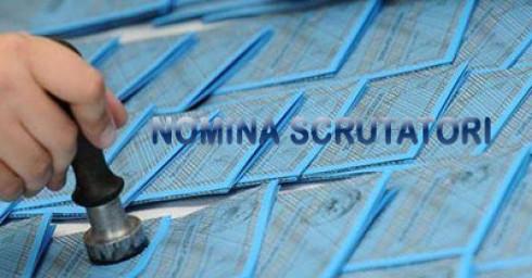 AVVISO NOMINA SCRUTATORI- amministrative 25/26 ottobre 2020